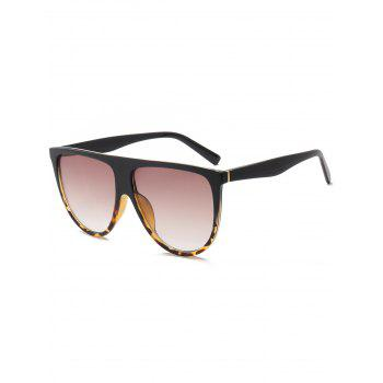 Wide Anti UV Attached Frame Sunglasses