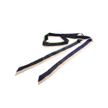 Muliticolor Different Plain Printed Scarf Ribbon - BLUE/WHITE