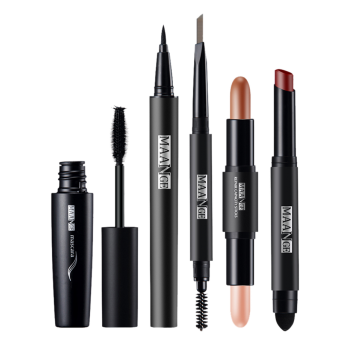 Portable 5Pcs Make Up Cosmetics Kit -