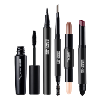 Portable 5Pcs Make Up Cosmetics Kit