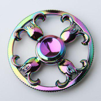 Round Sheepshead Rainbow EDC Fidget Spinner - COLORFUL COLORFUL
