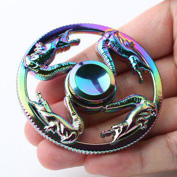 Colorful Dragon Finger Toy Round Fidget Spinner - 6.5*6.5*1.3CM 6.5*6.5*1.3CM