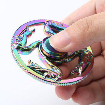 Colorful Dragon Finger Toy Round Fidget Spinner - COLORFUL COLORFUL