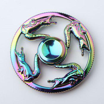Colorful Dragon Finger Toy Round Fidget Spinner - COLORFUL 6.5*6.5*1.3CM