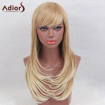Adiors Long Straight Side Bang Layered Colormix Tail Adduction Synthetic Wig