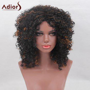 Adiors Medium Colormix Shaggy Synthetic Afro Curly Wig