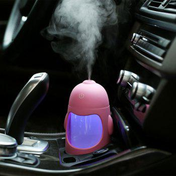 Colorful Night Light USB Chargeable Penguin Mini Humidifier - PINK