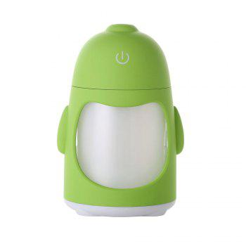 Colorful Night Light USB Chargeable Penguin Mini Humidificateur - Vert