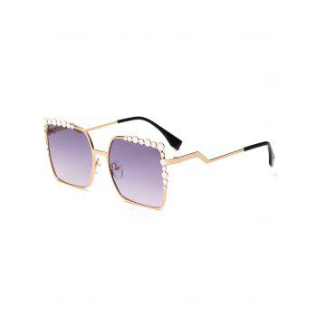 Polka Dot Embellished Rectangle UV Protection Sunglasses