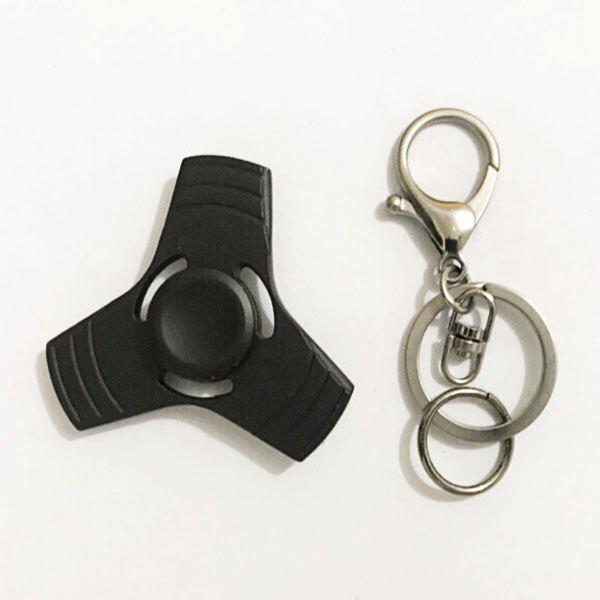 Anti Stress Reliever EDC Fidget Spinner Key Chain - Noir