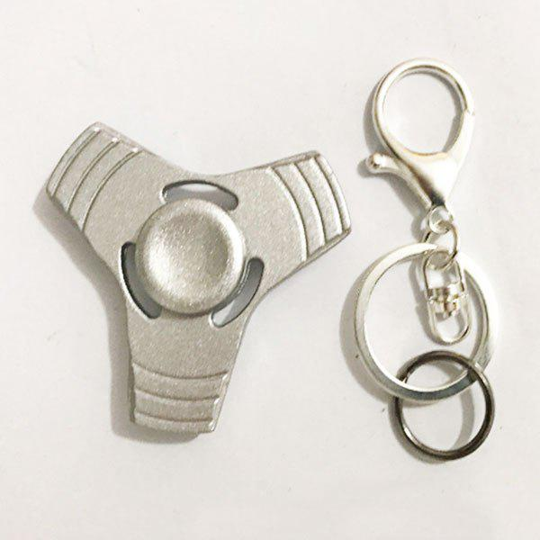 Anti Stress Reliever EDC Fidget Spinner Key Chain - SILVER