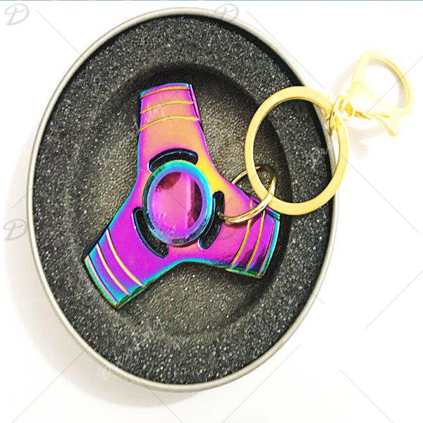 Anti Stress Reliever EDC Fidget Spinner Key Chain - COLORMIX