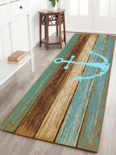 2018 Deck Anchor Pattern Indoor Outdoor Area Rug Cyan W Inch L Inch In Bath Rugs Mats Online