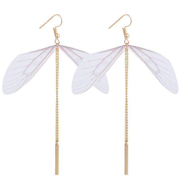 Link Chain Dragonfly Wing Design Hook Earrings