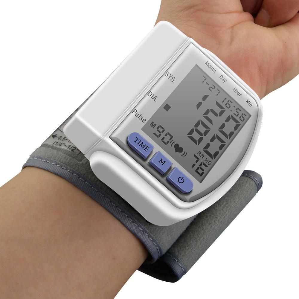 Health Monitoring Wrist Blood Pressure Monitor - WHITE