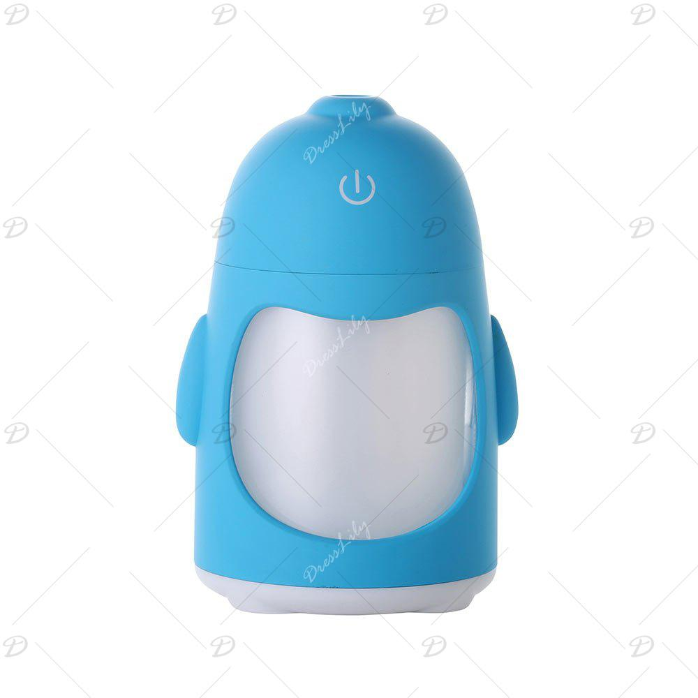Colorful Night Light USB Chargeable Penguin Mini Humidifier - BLUE
