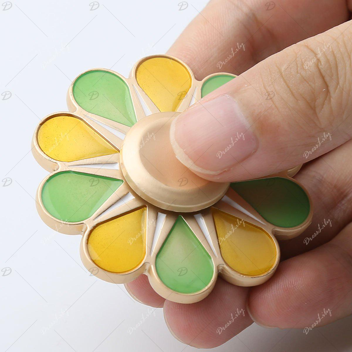 High Speed Floral Hand Spinner Fidget Toy - multicolorcolore 5.5*5.5*1.3CM