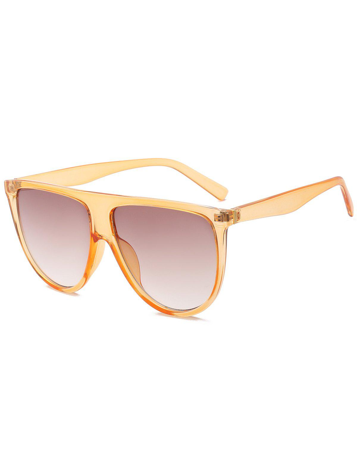 Wide Anti UV Attached Frame Sunglasses - YELLOW