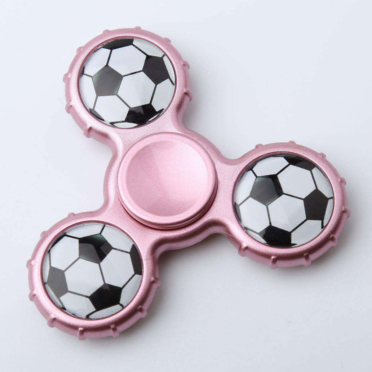 Football Pattern Sport Hand Spinner Fidget Toy - ROSE PÂLE 8*8*1.3CM