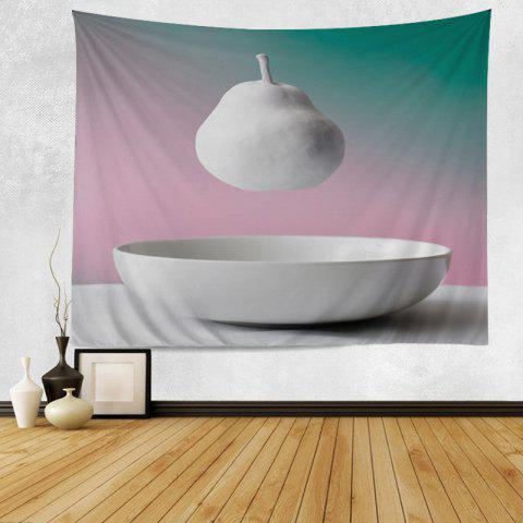 Wall Hanging Art Decor Hanging Pear Print Tapestry - WHITE W79 INCH*L59 INCH