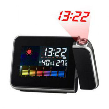 Temperature Humidity LED Projection Alarm Clock