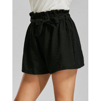 Elastic Waist Mini Shorts with Belt