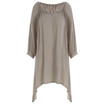 Scoop Neck Oversized Tunic Top