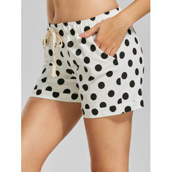 Drawstring Polka Dot Mini Shorts