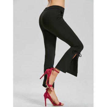 Side Slit Boot Cut Pants