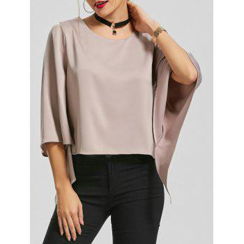 Bell Sleeve Blouse with Chocker Necklace