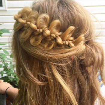 Long Bow Knot Wreath Headband Braid Hair Pieces