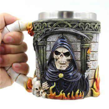 3D Skull Stainless Steel Mug - COLORFUL COLORFUL