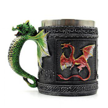 Stainless Steel 3D Dragon Mug