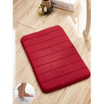 Slow Rebound Memory Coral Fleece Stripes Door Mat