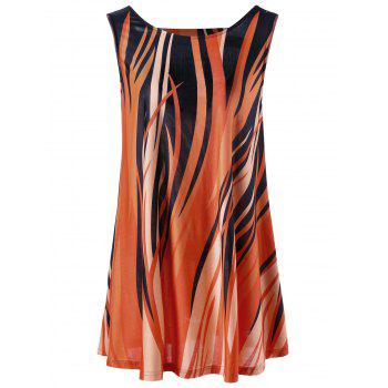 Plus Size Fire Printed Dressy Tank Top