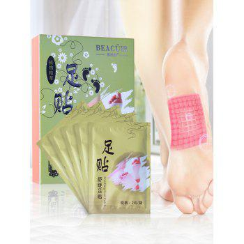 5 Pairs Bamboo Vinegar Essence Detox Foot Patch - GREEN GREEN