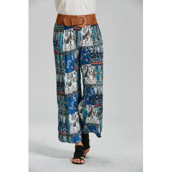 High Waisted Printed Ankle Pants