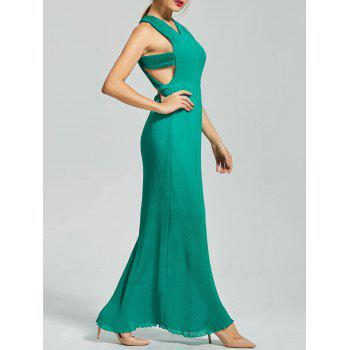 Backless Maxi Pleated Dress