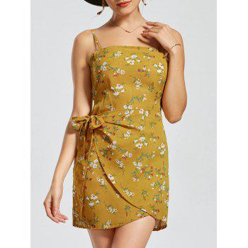Floral Print Cut Out Back Slip Dress