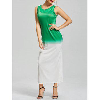 Ombre Fitted Sleeveless Maxi Dress