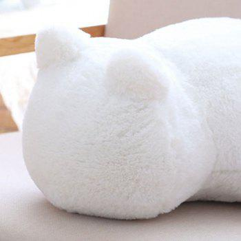 Stuffed Cat Back Birthday Gift Toys Cushion Throw Pillow - WHITE
