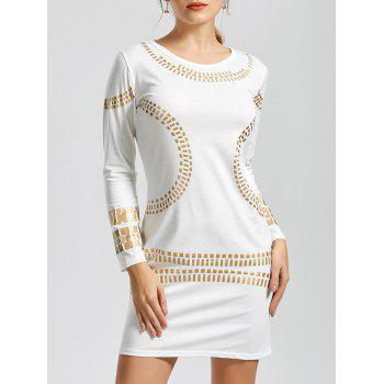 Long Sleeve Gilding Mini T-Shirt Dress