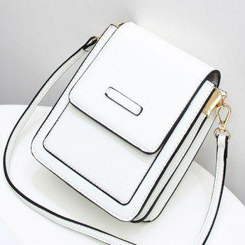 Flapped Mini Cross Body Bag -  WHITE