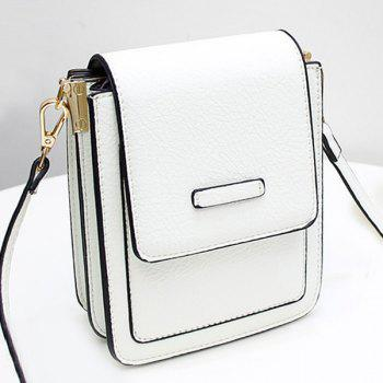 Flapped Mini Cross Body Bag - WHITE WHITE
