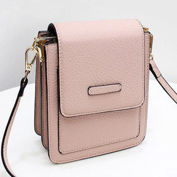 Flapped Mini Cross Body Bag - PINK PINK