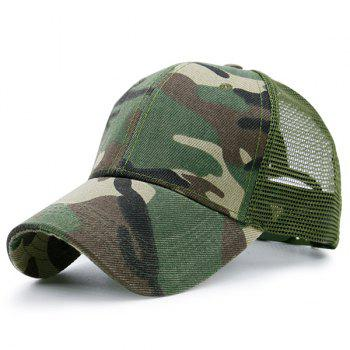 Camo Mesh Splicing Pattern Baseball Hat
