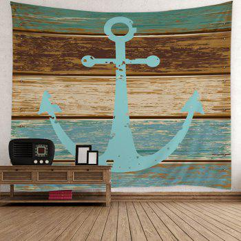 Anchor Rustic Wood Wall Tapestry