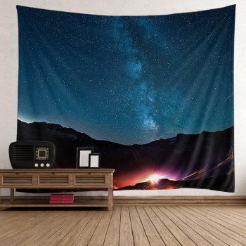 Wall Hanging Night Sky Mountain Tapestry