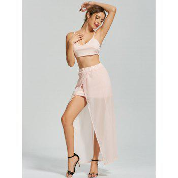 High Slit Maxi Two Piece Dress