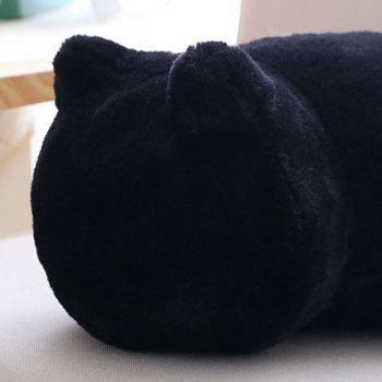Stuffed Cat Back Birthday Gift Toys Cushion Throw Pillow -  BLACK